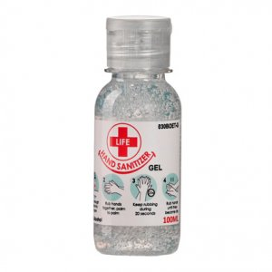 100ml Clear Gel Hand Sanitizer 70% Alcohol