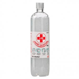 1L Clear Gel Hand Sanitizer 70% Alcohol