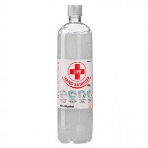 1L Clear Gel Hand Sanitizer 70% Alcohol