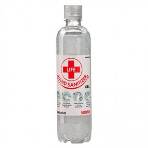 500ml Clear Gel Hand Sanitizer 70% Alcohol
