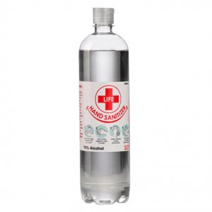 1L Clear Liquid Hand Sanitizer 70% Alcohol