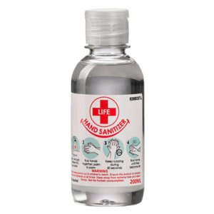 200ml Clear Liquid Hand Sanitizer 70% Alcohol