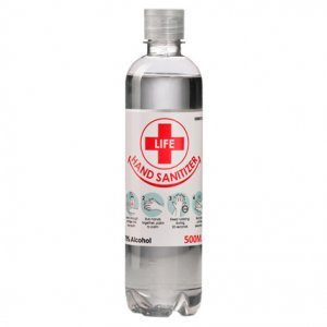 500ml Clear Liquid Hand Sanitizer 70% Alcohol