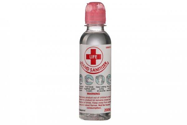 200ml Clear Liquid Hand Sanitizer 70% Alcohol